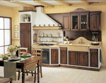 wood kitchen cabintes