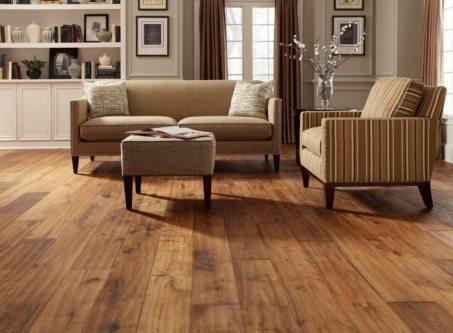 Brown wood floors