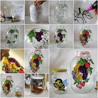 DIY Jars decor tutorial for kitchen