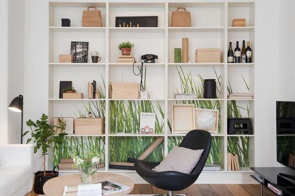 Scandinavian design for bookshelf
