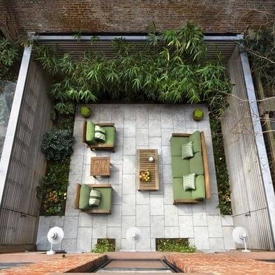 beautiful outdoor design for Townhouses.