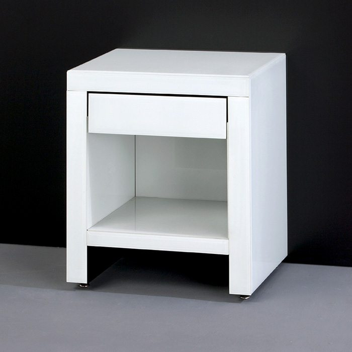 nightstand tables in white