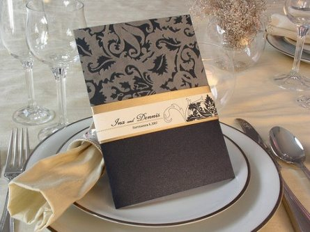 black wedding cards