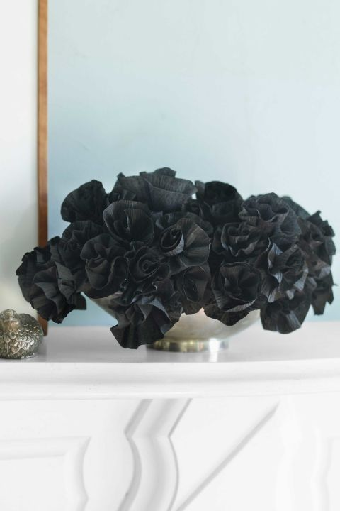 black halloween flowers - halloween decorations
