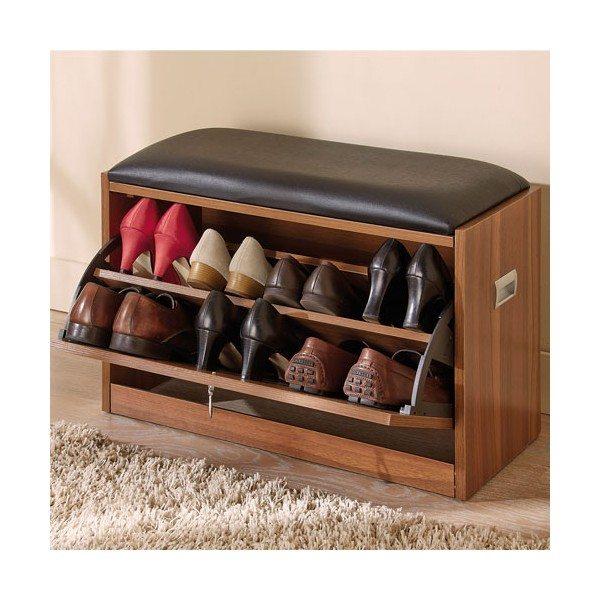 Shoe storage chair shoe cabinet design