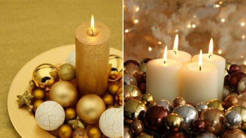 golden candles
