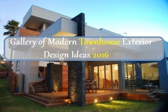 Modern Townhouse Exteriors Design Ideas