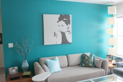 light blue wall idea