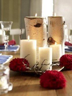 modern christmas candles