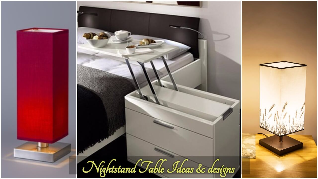 Nightstand ideas night table designs 2017 2018 bedroom Night table ideas