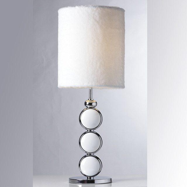 white nightstand lamp