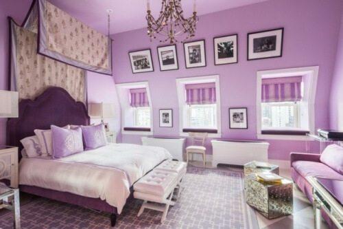 purple wall ideas