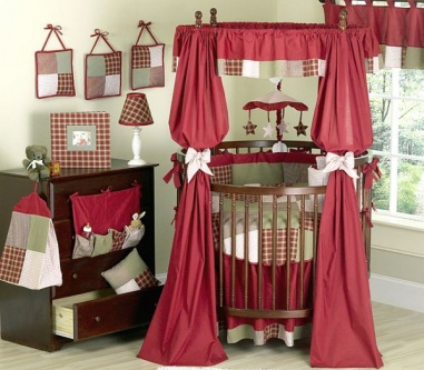 red round baby cribs
