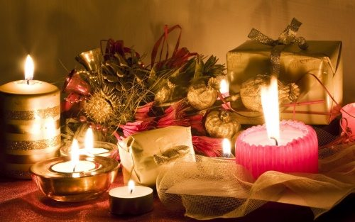 romantic candles for christmas