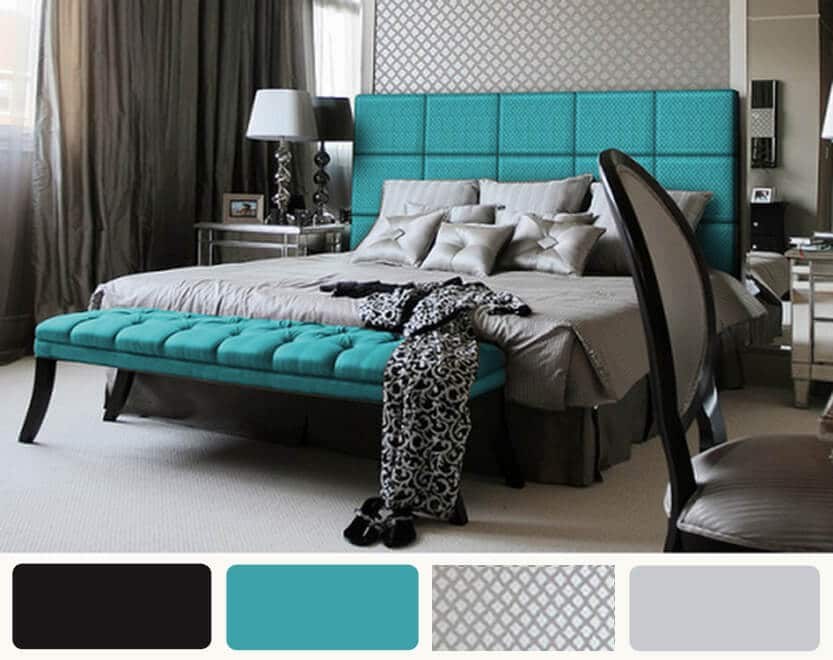 Turquoise bedroom color ideas