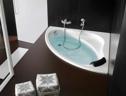 modern corner bathtub