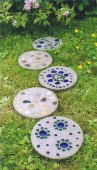 modern stepping stones for gardens and front yard.