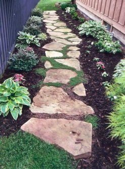 front garden stepping stones design