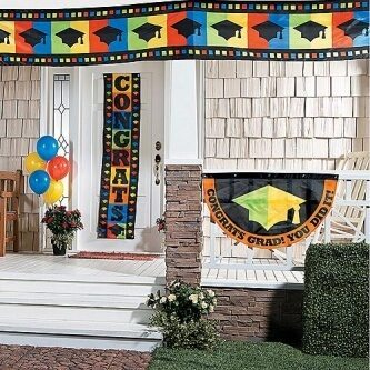 graduation wall decorations & banners