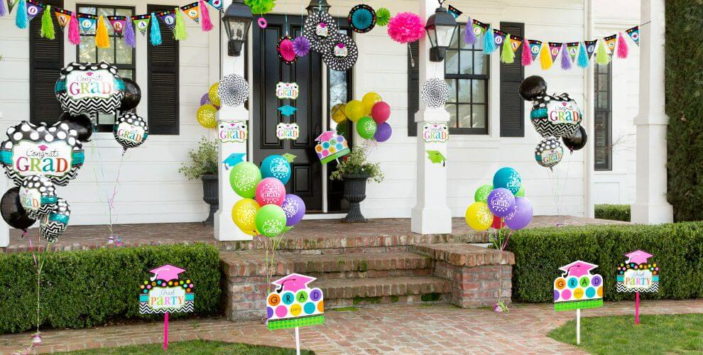 Graduation party decorations for a girl