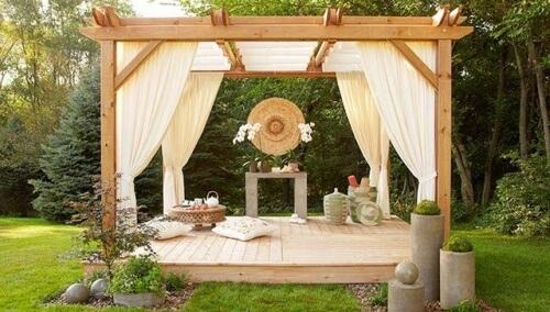 outdoor meditation room