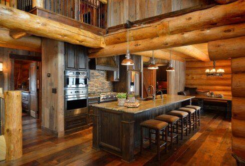 rustic farmhouse style kitchen
