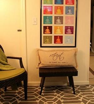 small meditation corner