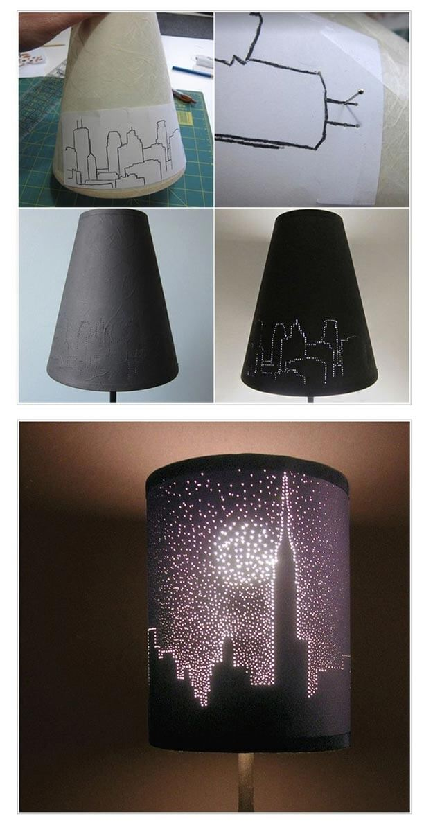 DIY teen rooms Lampshade