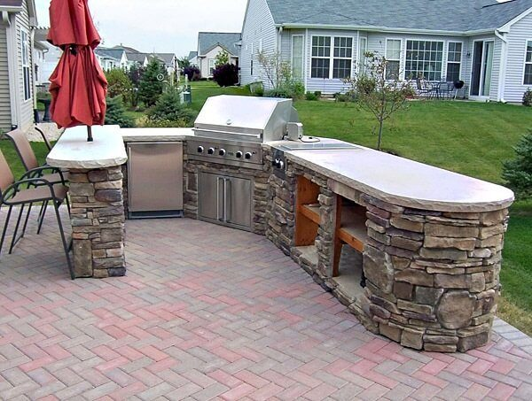 40 outdoor kitchen ideas designs 2016 2017 decoration y for Outside barbecue area design