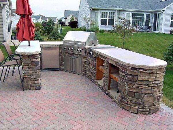 Beautiful outdoor kitchen design 2017