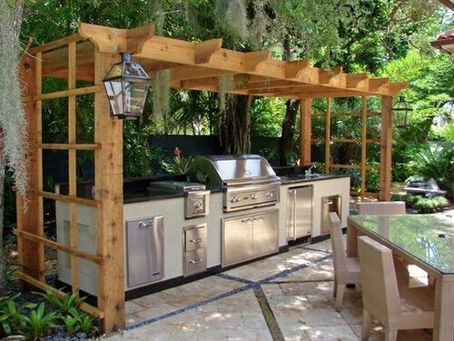 Latest designs for kitchens in garden