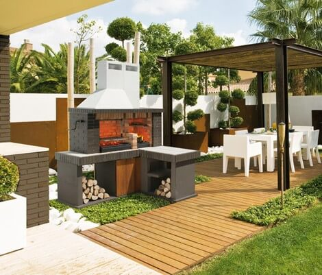 Luxury outdoor design for kitchen