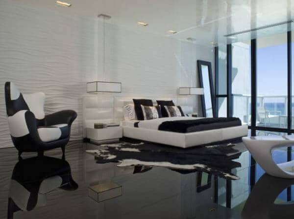 white and black bedroom design