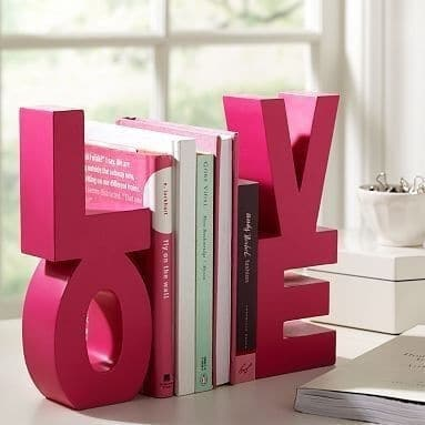 room decorating ideas for teen bookends