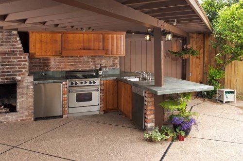 contemporary outdoor kitchen ideas