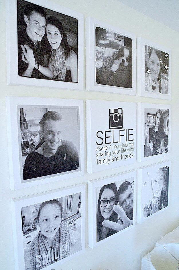 portrait wall for teen rooms