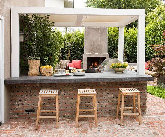 garden outdoor kitchen