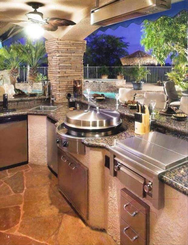 40 outdoor kitchen ideas designs 2016 2017 decoration y for Backyard kitchen design ideas
