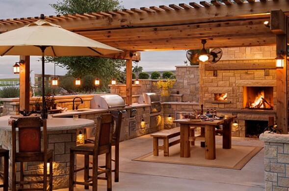 outdoor kitchens designs & ideas