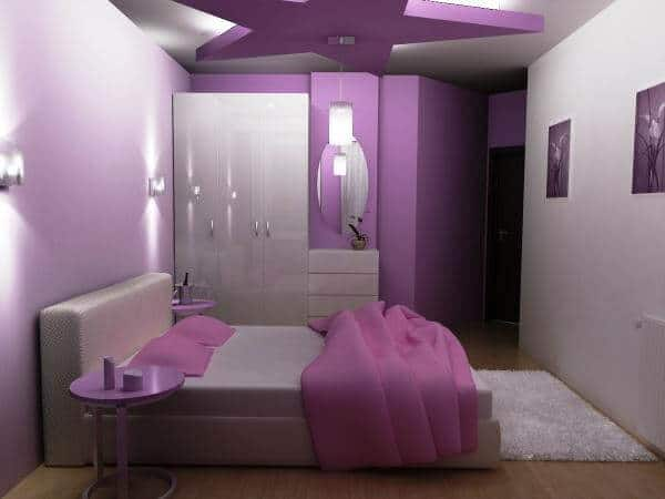 violet purple bedroom interior design ideas
