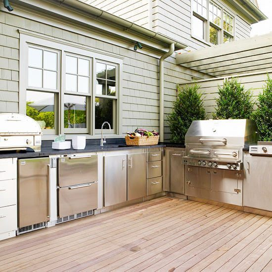 stylish design for modern outdoor kitchen ideas