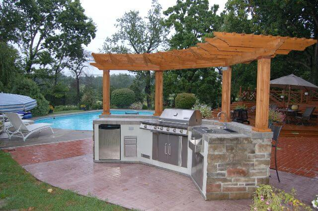 swimming pool kitchen for outdoor