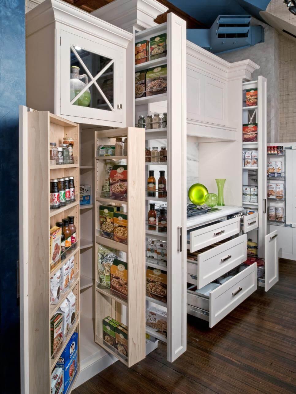 Kitchen vertical cabinet designs 2017