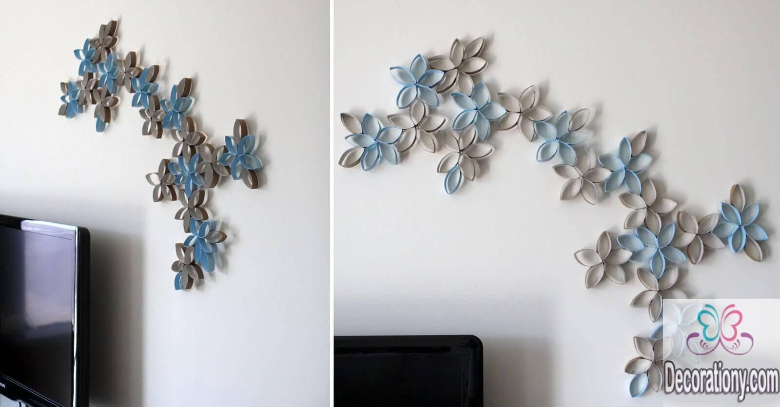 45 living room wall decor ideas living room - Paper decorations for room ...