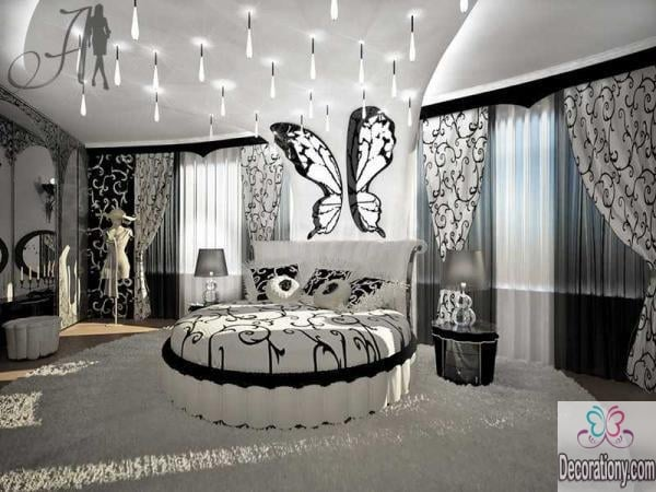 B&W bedrooms fits girls room