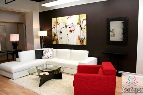 Stylish living room wall portraits ideas