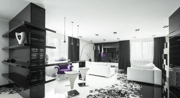 Unique apartment living room