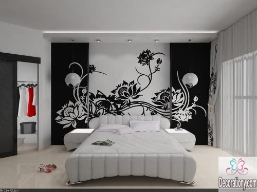 Black-and-white bedroom designs trends