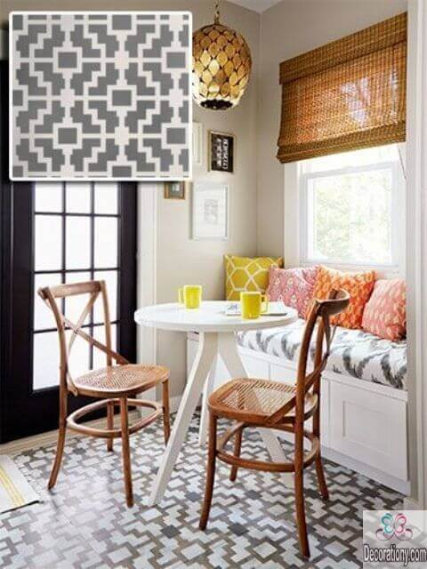 Beautiful small dining room design with tiny dining table