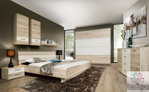 Bedroom Wall decor ideas by using cabinets